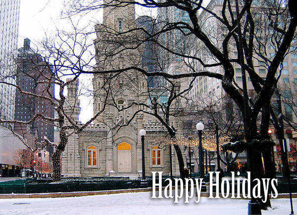 Photograph - Happy Holidays From Chicago by Laura Kinker