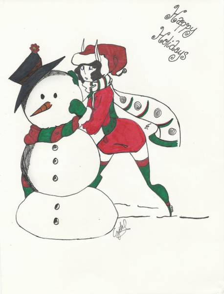 Sketch Holiday Photograph - Happy Holidays by Michelle Cruz