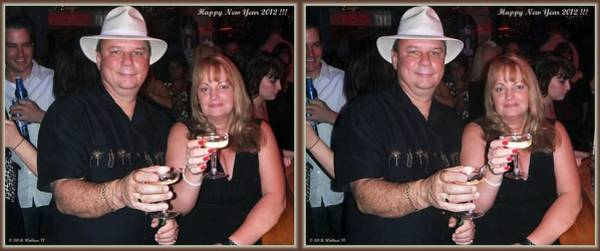 Anaglyph Photograph - Happy New Year - Gently Cross Your Eyes And Focus On The Middle Image That Appears by Brian Wallace