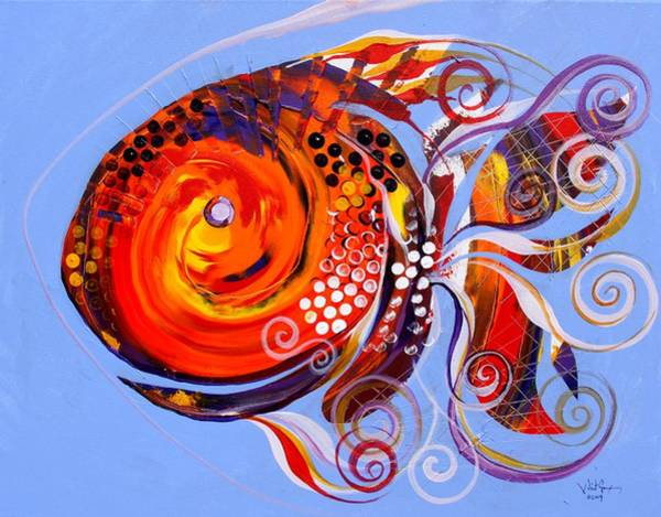 Happy Rainbow Fish Art Print
