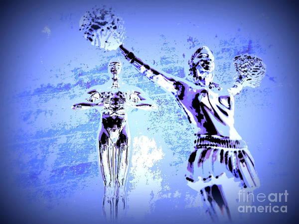 Cheerleaders Digital Art - Happy Times Remembered by Renee Trenholm