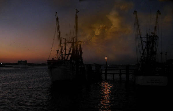 Shrimp Digital Art - Harbor At Dusk by Joseph G Holland
