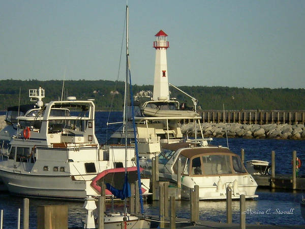 Photograph - Harbor Collection - St. Ignace Mi by Monica C Stovall