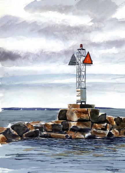 Oak Harbor Painting - Harbor End by Paul Gardner