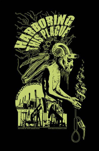 Mixed Media - Harboring This Plague by Tony Koehl