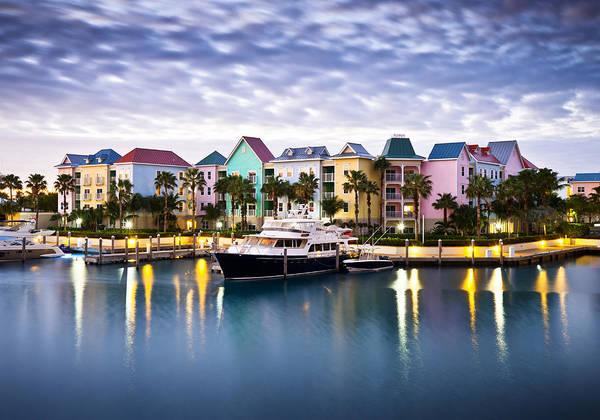Wall Art - Photograph - Harborside Resort At Dawn - Paradise Island Nassau Bahamas by Dave Allen