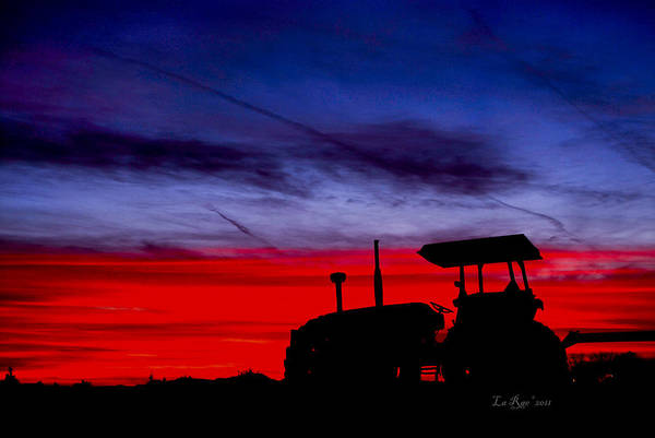 Blythe Photograph - Hard Day Ends by La Rae  Roberts