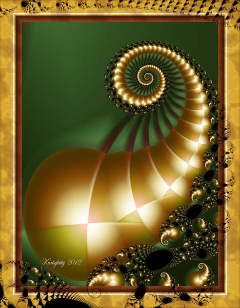 Digital Art - Harlequin Spirals by Karla White