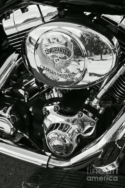 Aimelle Photograph - Harley Davidson Bike - Chrome Parts 02 by Aimelle