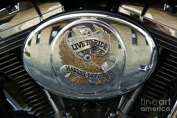 Aimelle Photograph - Harley Davidson Bike - Chrome Parts 44c by Aimelle