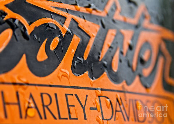 Banners Photograph - Harley Davidson Logo by Stelios Kleanthous