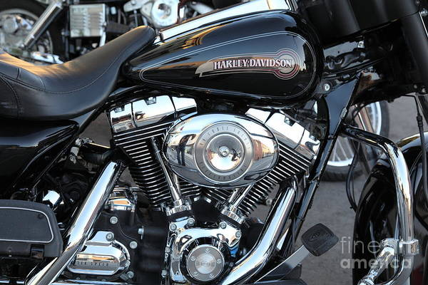 Photograph - Harley-davidson Motorcycle - 5d18415 by Wingsdomain Art and Photography