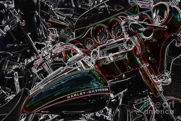 Harley Davidson Style 4 Art Print