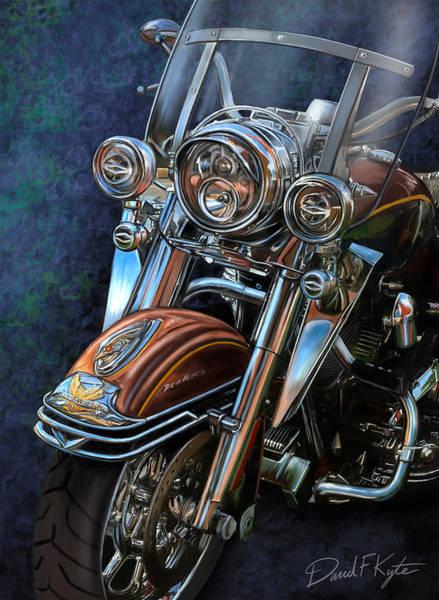 Wall Art - Digital Art - Harley Davidson Ultra Classic by David Kyte