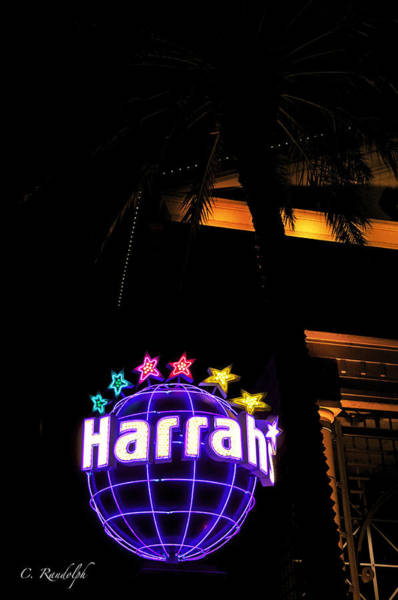 Harrahs Photograph - Harrah's by Cheri Randolph