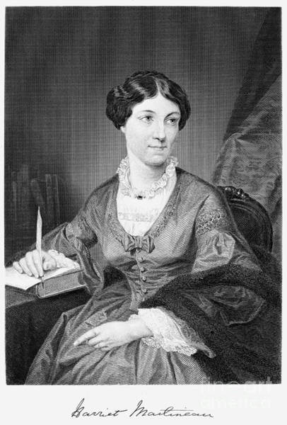 Paper Dress Photograph - Harriet Martineau by Granger