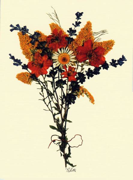 Twig Mixed Media - Harvest Bouquet by Kay  Sutton