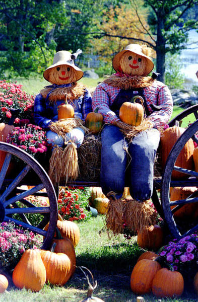 Photograph - Harvest Couple by Emanuel Tanjala