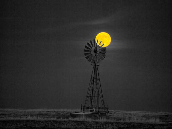 Photograph - Harvest Moon by HW Kateley