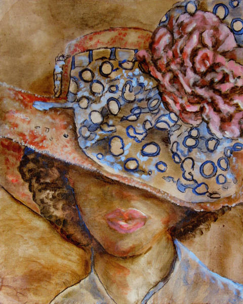Wall Art - Painting - Hat Lady 2 by Laura Heggestad