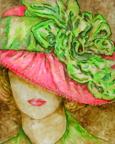 Wall Art - Painting - Hat Lady 3 by Laura Heggestad