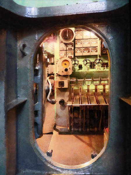 Photograph - Hatch In Submarine by Susan Savad