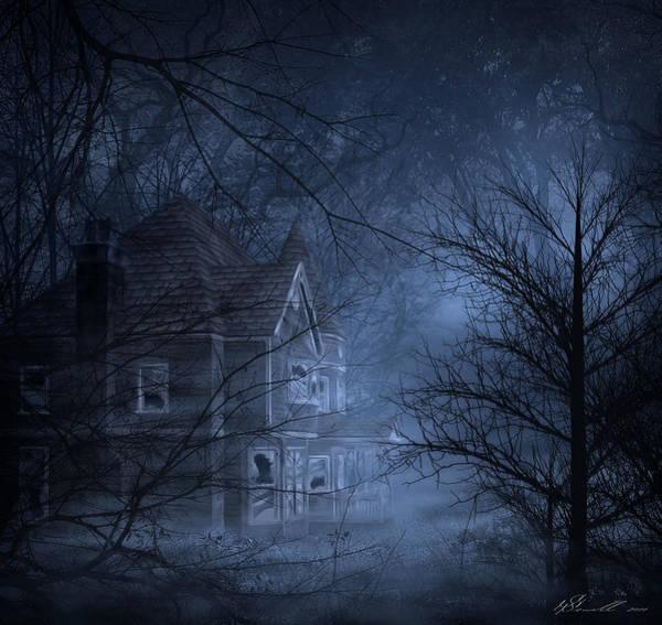 Suspense Digital Art - Haunted Place by Svetlana Sewell