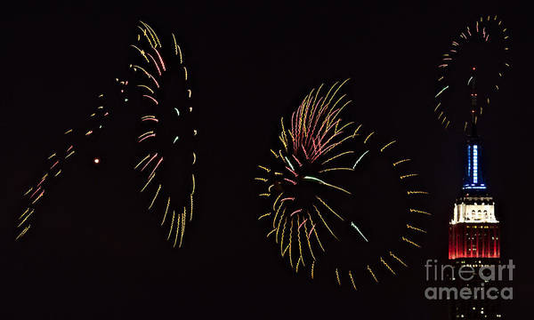 Fireworks Show Wall Art - Photograph - Have A Fifth On The Fourth by Susan Candelario