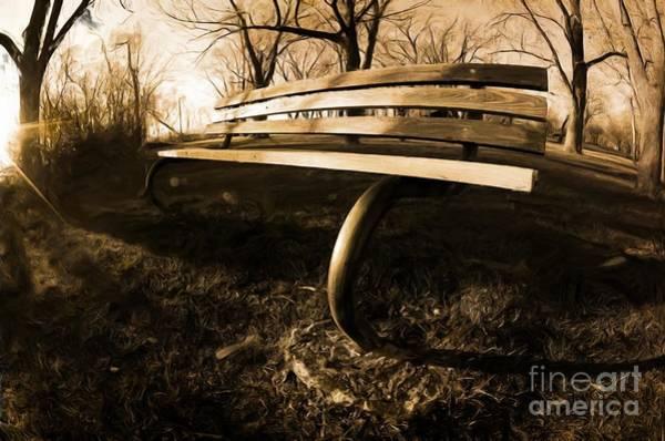 Park Bench Digital Art - Have A Seat by Stephanie Romero