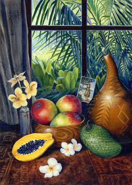 Mixed Media - Hawaiian Still Life by Anne Wertheim