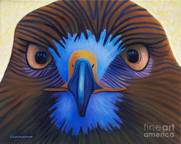 Wall Art - Painting - Hawk - The Messenger by Brian  Commerford