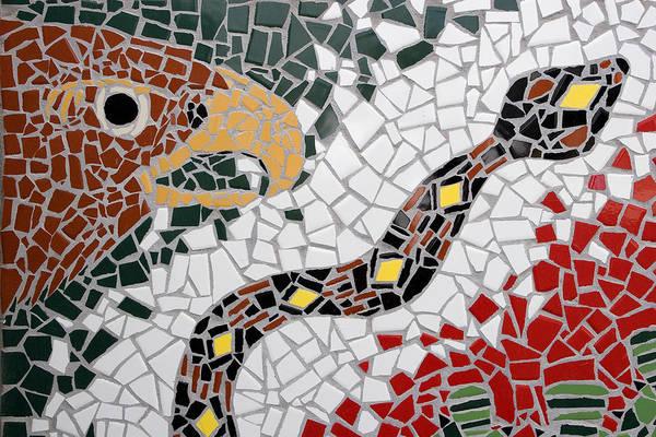Hawk And Snake Mosaic Art Print