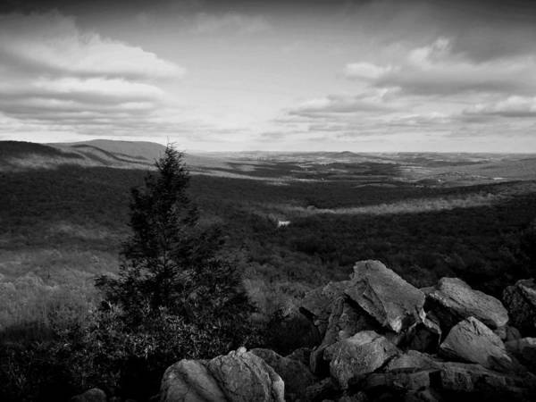 Photograph - Hawk Mountain Sanctuary Bw by David Dehner