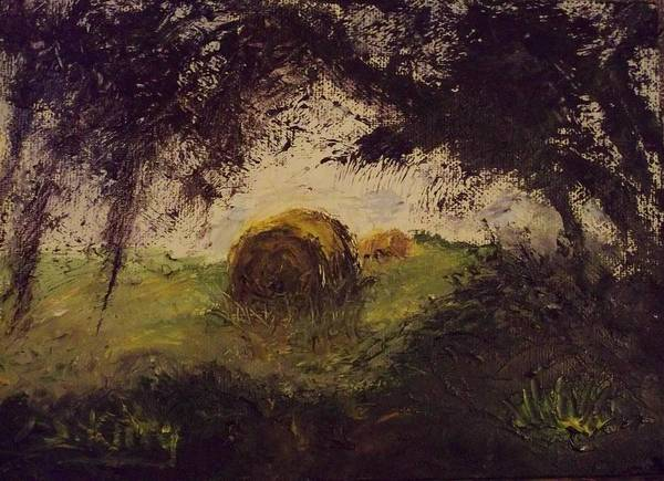 Stephen King Painting - Hay Bale by Stephen King