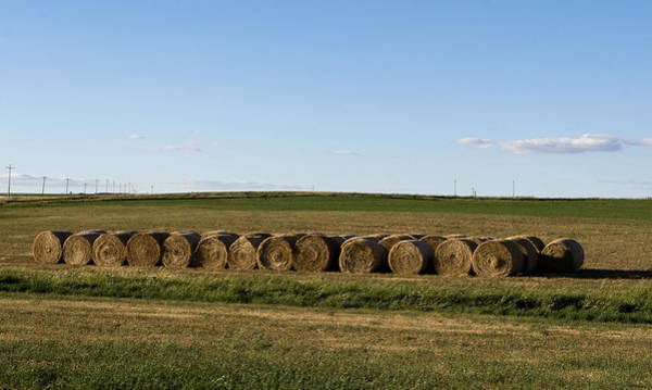 Photograph - Hay Rolls Big Sky by Lorraine Devon Wilke