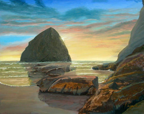 Painting - Haystack Kiwanda Sunset by Chriss Pagani