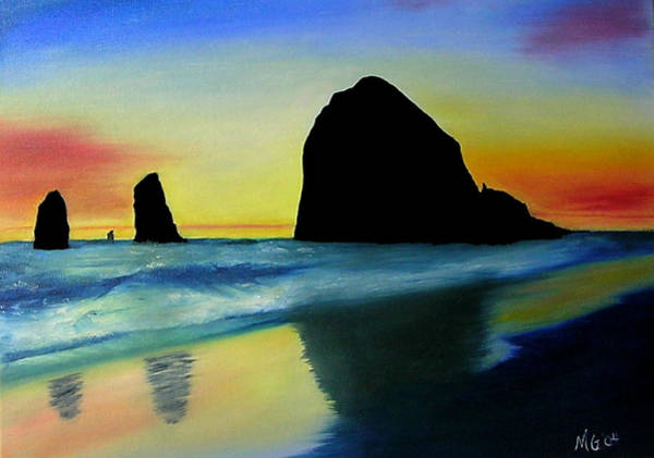 Haystack Shadows  Art Print by Mary Gaines