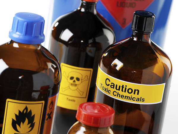 Flammable Wall Art - Photograph - Hazardous Chemicals by Tek Image