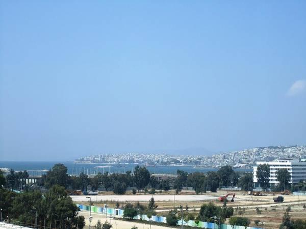 Photograph - Hazy Athens Bay View Aegean Sea Mediterranean Morning In Greece by John Shiron