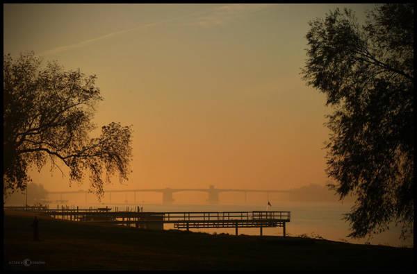 Photograph - Hazy October Sunrise by Tim Nyberg