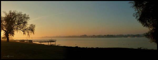 Photograph - Hazy Sunrise Bayside by Tim Nyberg