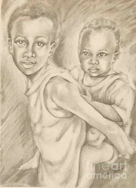 Wall Art - Drawing - He Ain't Heavy by Sandra Valentini