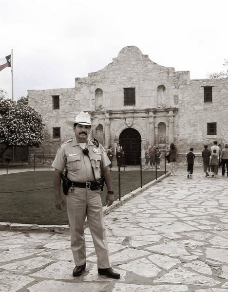 He Guards The Alamo Art Print