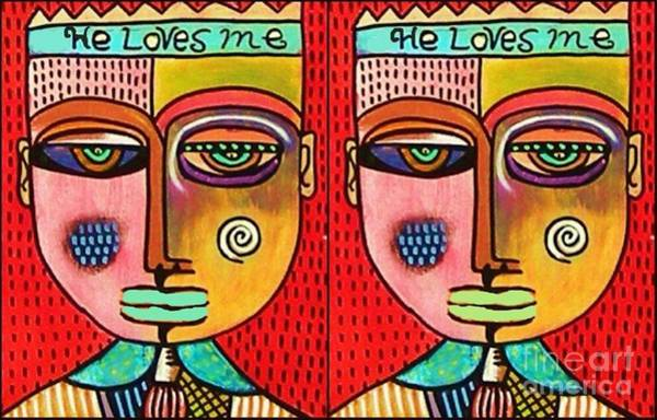 Painting - He Loves Me He Loves Me by Sandra Silberzweig