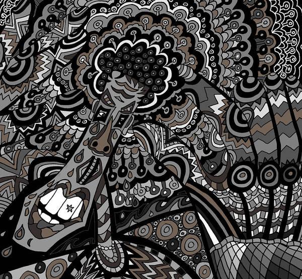 Wall Art - Drawing - Head by Karen Elzinga