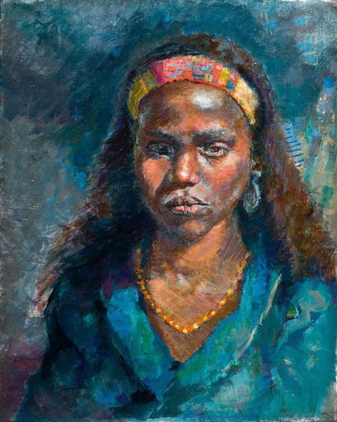 Painting - Head Of A Woman by Ellen Dreibelbis