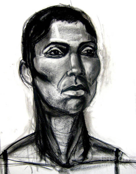 Art Print featuring the drawing Head Study by Gabrielle Wilson-Sealy