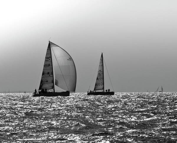 Photograph - Heading Home Solent by Gary Eason