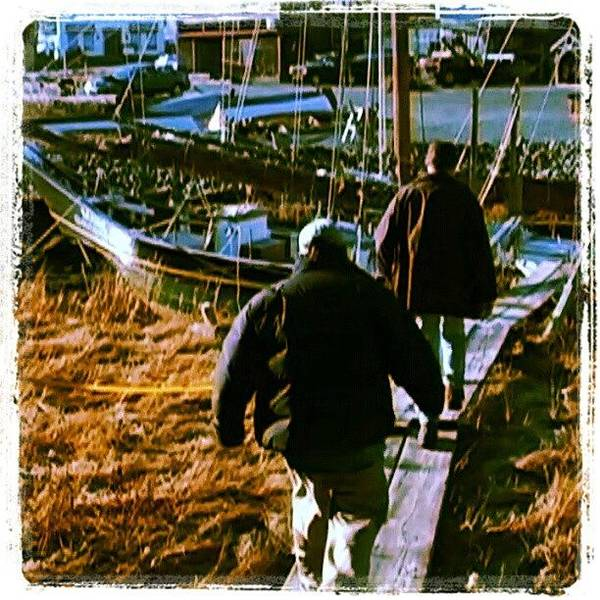 Run Wall Art - Photograph - Heading On Down To A Fishing Schooner by Hit And Run History