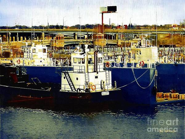 Painting - Heading Out Of The Harbor by RC DeWinter